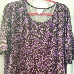 LuLaRoe Irma Purple Floral Large